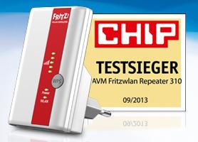Chip Fritzwlan Repeater 310 Auf Platz 1 Im Vergleichstest Avm