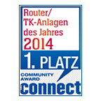 1. Platz beim Connect Online Community Award